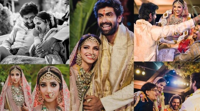 Few more adorable pics of Rana and Miheeka wedding!