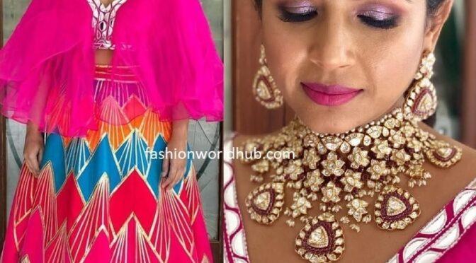Nithiin's sister Nikhita Reddy in Statement Polki diamond necklace!