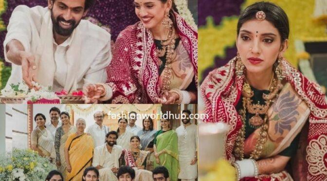 Rana Daggubati and Miheeka Bajaj performing Lord Satyanrayanara Pooja Photos!