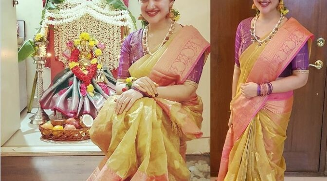 Sridevi Vijaykumar Festive Look!