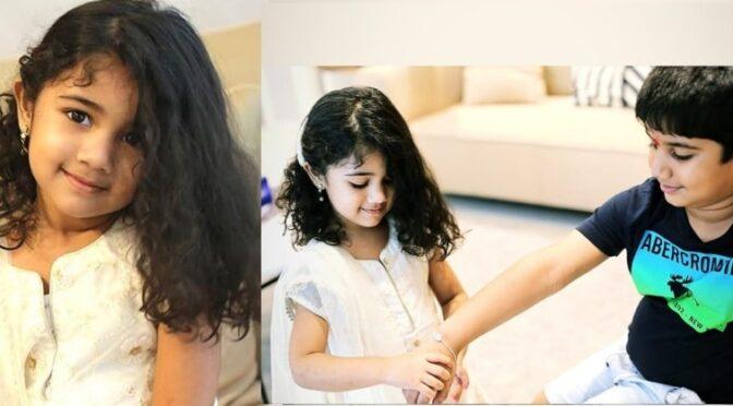 Allu Arha looked adorable in White chudidar!