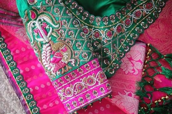 Maggam work blouse designs by D'zaina