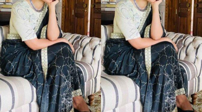 Kangana Ranaut in a Floral print saree!