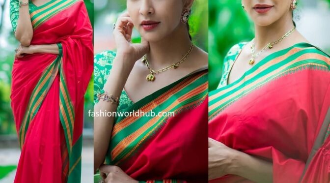 Lakshmi Manchu in a Red silk saree!