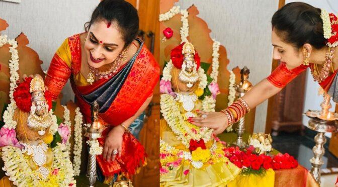 Pritha Hari in a traditional Silk saree!