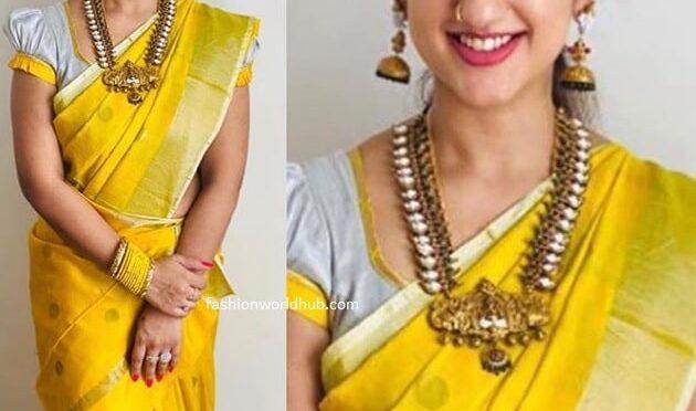 Pritha hari in a yellow silk saree!