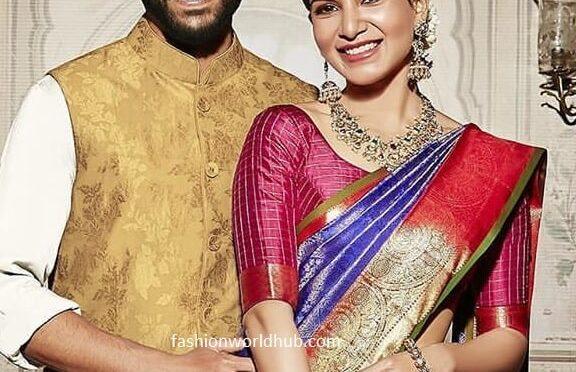 Samantha and nagachaitanya's traditional look!