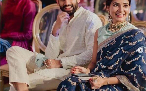 Samantha and Nagachaitanya in traditional outfits!