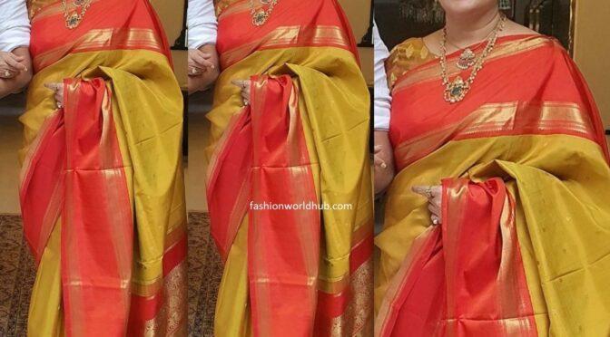 Sumalatha in a kanjeevaram saree!
