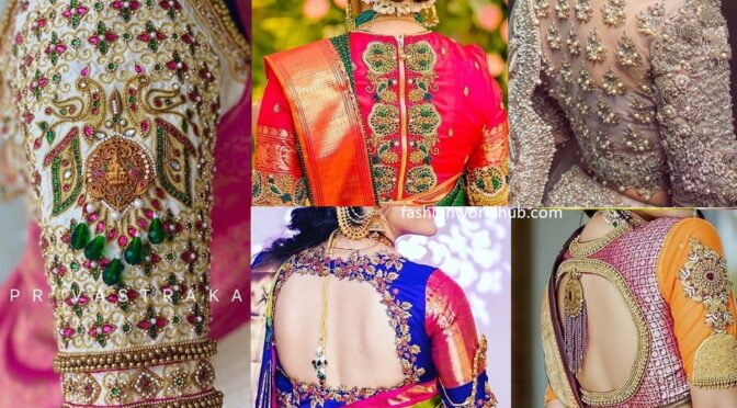 Mind blowing maggam work blouse designs!