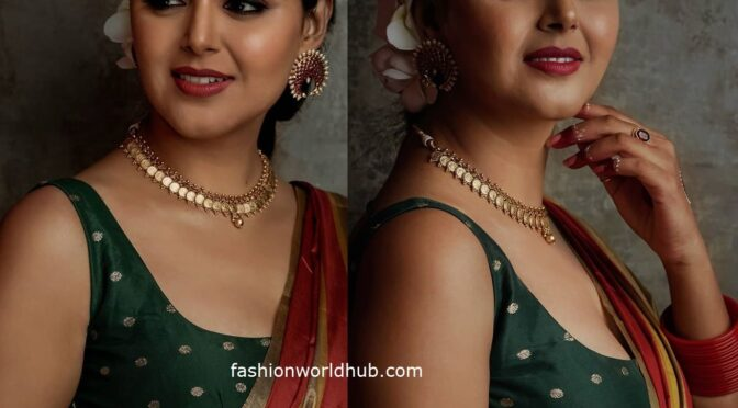 Monal Gajjar in Traditional Silk Saree