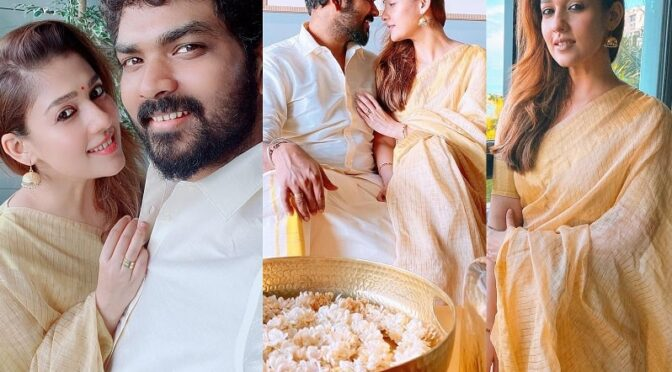 Nayanthara and Vignesh celebrated Onam festival in traditional outfits!