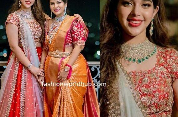 Nithiin's sister Nikitha Reddy and niece Aadya Reddy in traditional outfits!