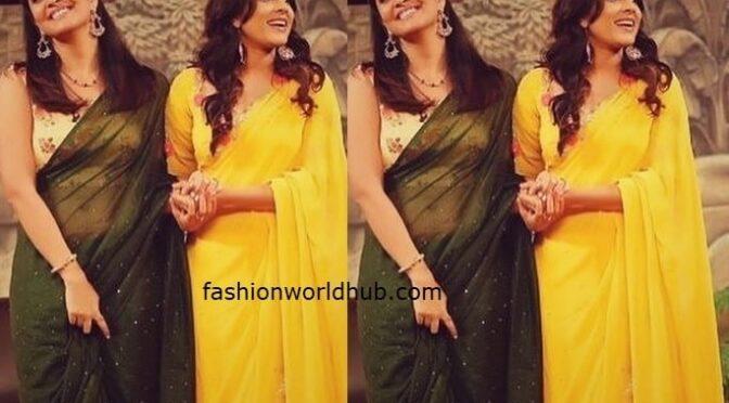 Anasuya and Rashmi Gautam's saree look!