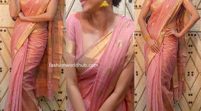 Ankita Lokhande in a traditional saree!