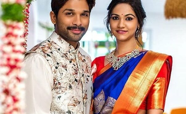 Allu Arjun and Sneha reddy in Traditional outfits!