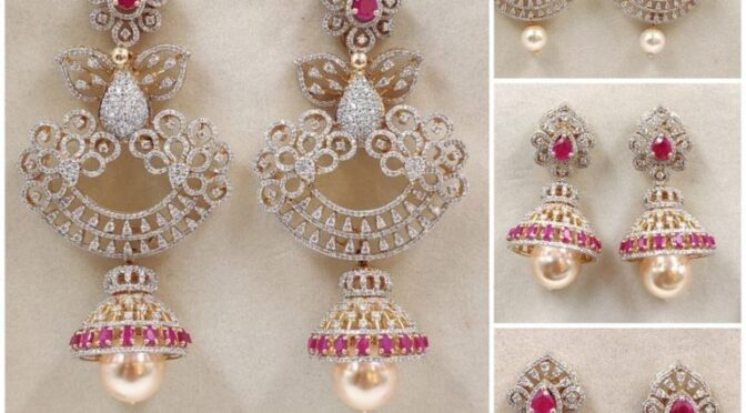 Four in one Convertible diamond jhumkis