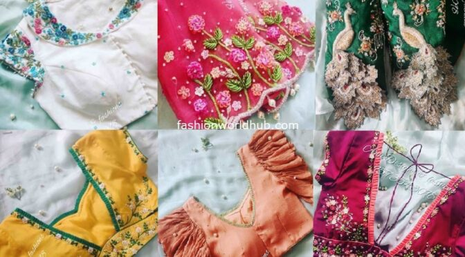 Mind blowing designer blouses from Anu Designs & Fashions