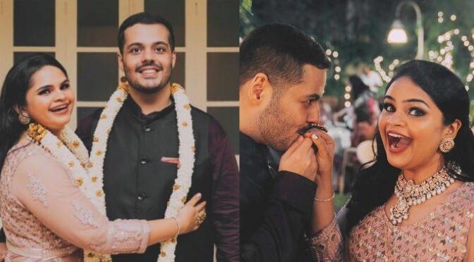 Actress Vidyu raman engagement photos