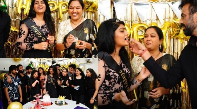 Actress Hema's daughter Esha 19th birthday celebration photos
