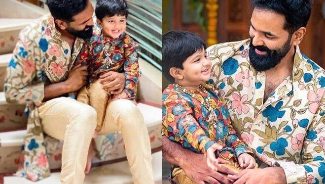 Vishnu Manchu and his son Avram in matching outfits!