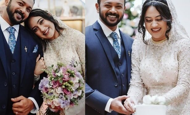 Malayalam actress Miya George and Ashwin Philips Wedding photos!