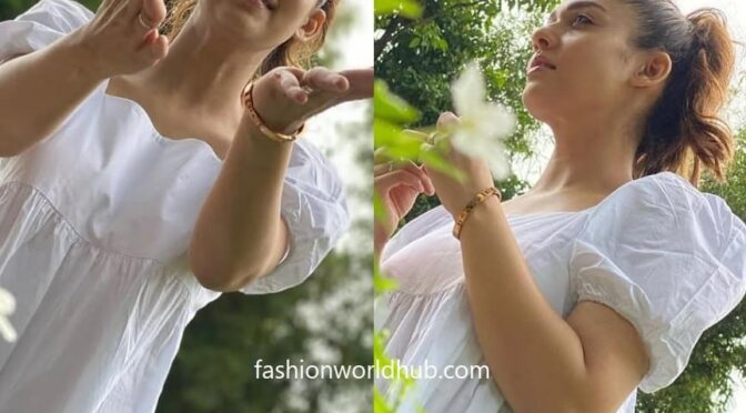 Nayanthara in white dress by H&M!
