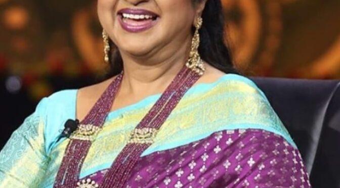 Radhika Sarathkumar in Ruby beads haram!