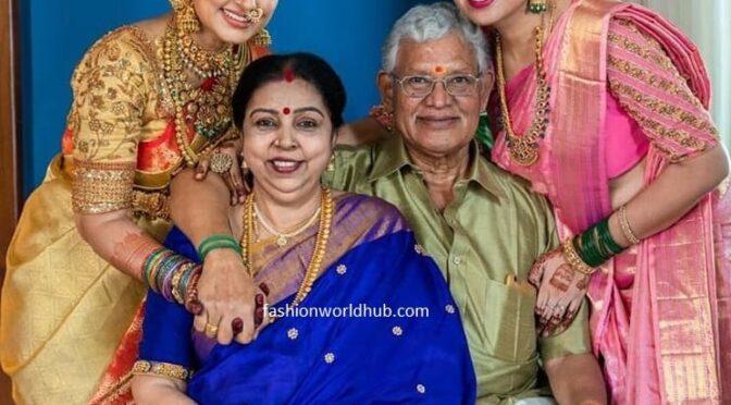 Actress Sneha and sangeetha in a kanjeevaram saree!