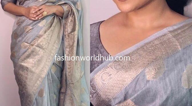 Vidya Balan in a chanderi silk saree by Boveee!