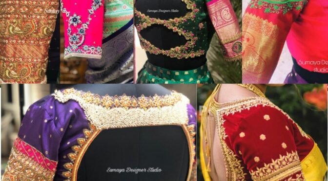 Mind blowing Wedding Blouse Designs For Kanjeevaram Sarees!