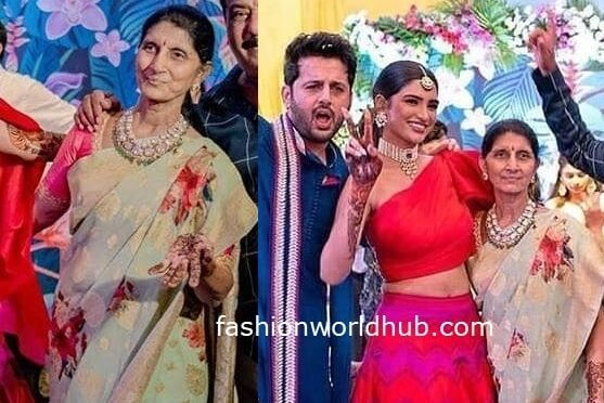 Hero Nithiin's mother vidhya reddy in a Floral print saree!