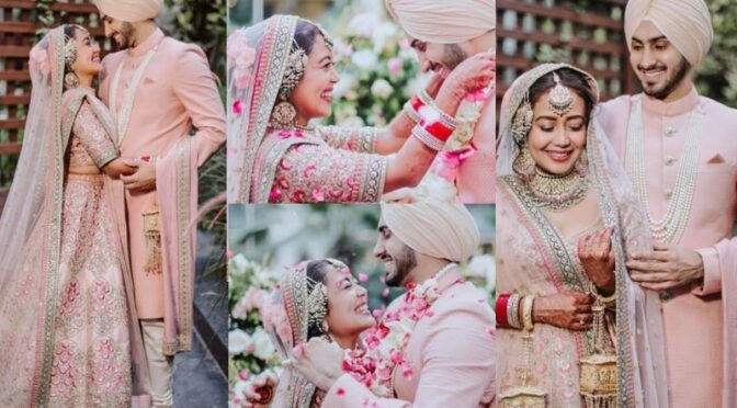 Neha kakar and Rohanpreet Singh in Sabyasachi Outfits for the grand wedding!