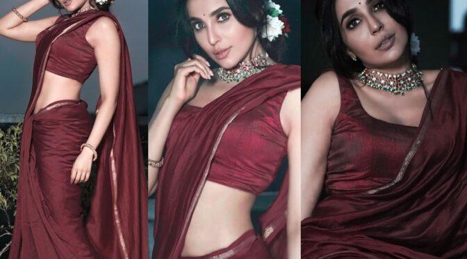 Parvati Nair looking dead drop gorgeous in a maroon saree!