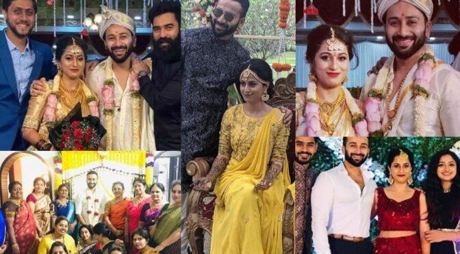 Trinayani serial actor chandu gowda ( Vishal) wedding photos!
