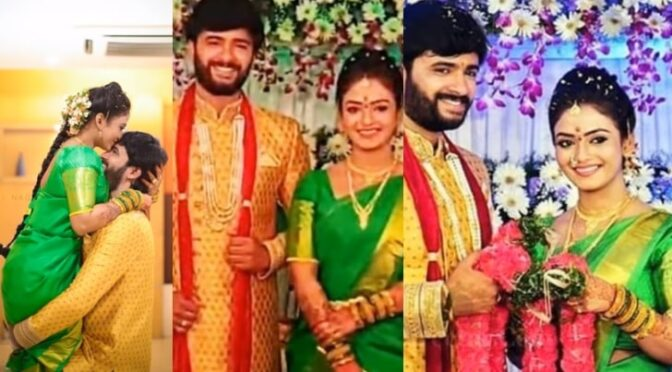 Nenu sailaja serial TV Actor Eknadh paruchuri and Jaya Harika Engagement photos!