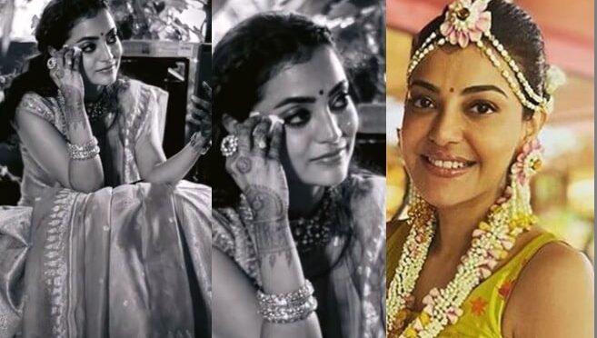 Kajal aggarwal sister Nisha gets emotional during haldi ceremony!