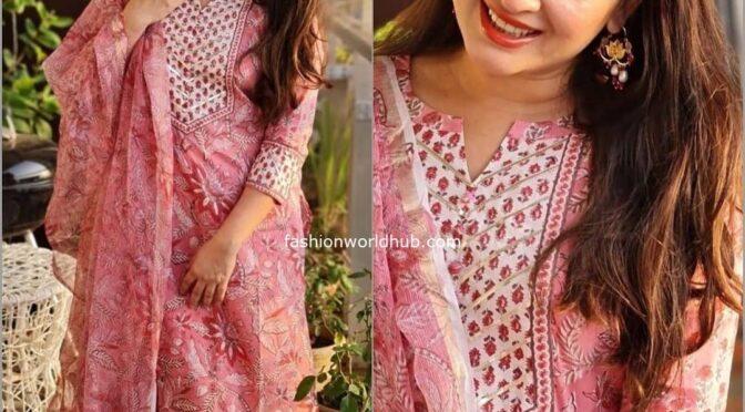 Nidhi Kurda stuns in pink salwar!