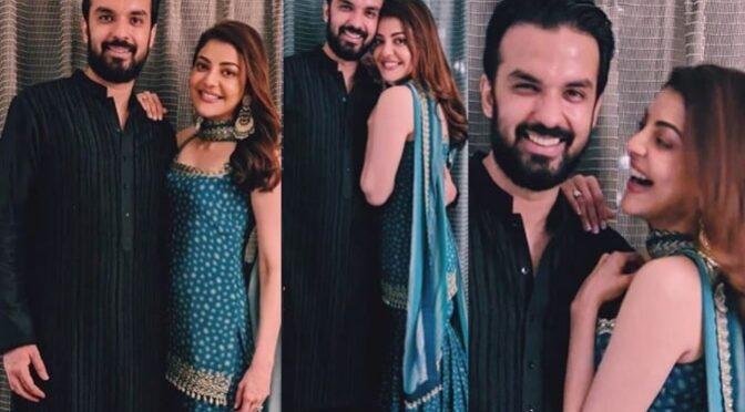 Kajal Aggarwal celebrates Dussehra festival with her fiancé Gautam Kitchlu!