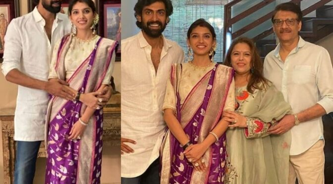 Rana Daggubati and Miheeka  Dussehra celebration photos!