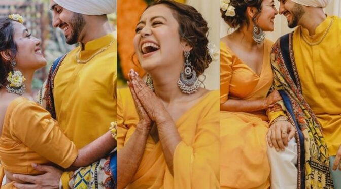 Neha Kakkar and Rohan Preet Singh Haldi Ceremony photos!
