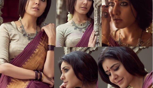 Dussehra 2020 : Raashi Khanna in traditional saree!