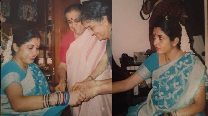Unseen photos of ramya krishnan Seemantham (vallaikaapu)  photos!