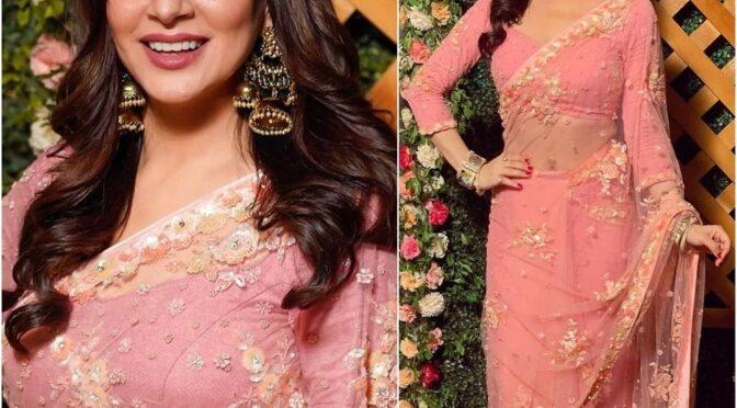 Shraddha Arya rocking gorgeous in a pink saree!
