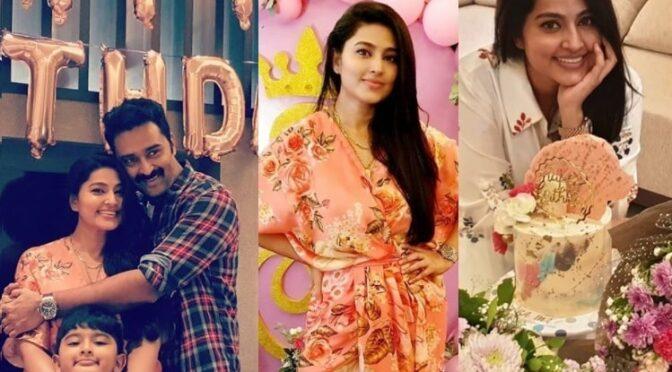 Actress Sneha prasanna 39th birthday celebration pics!