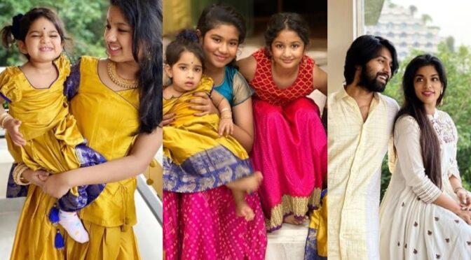 Sreeja Kalyan family Dussehra celebration photos!