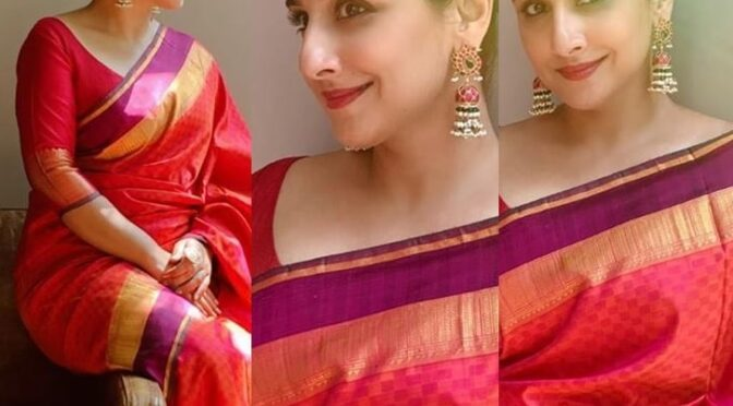 Vidya Balan's traditional saree look!