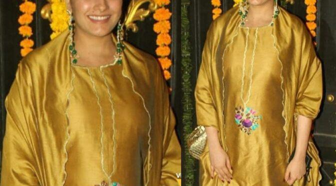 Anita Hassanandani at Ekta Kapoor's 2020 Diwali Bash!