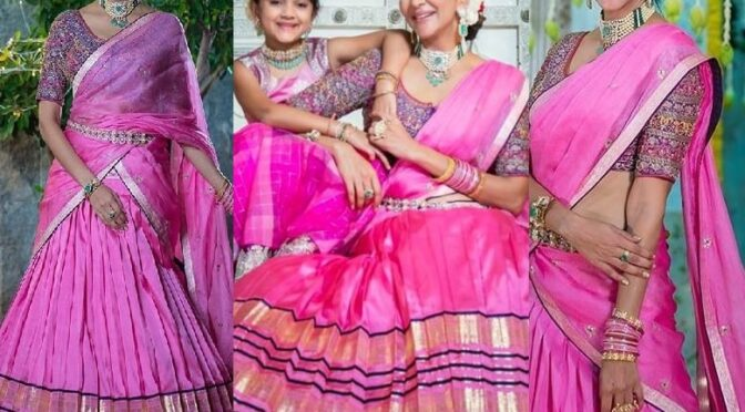 Lakshmi Manchu and daughter Vidya Nirvana twinning in Pink outfits for Diwali celebrations!