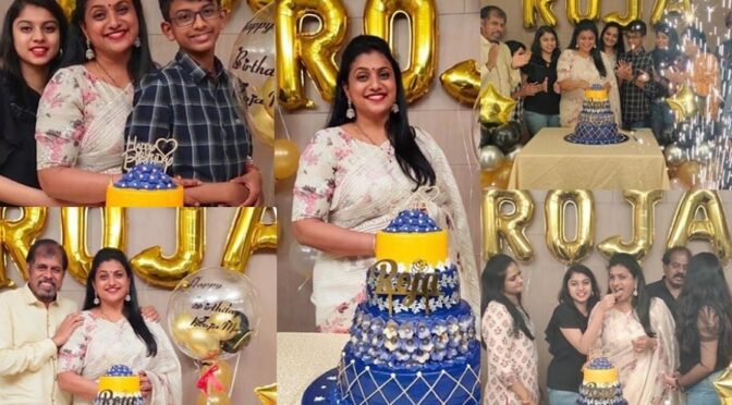 Roja Selvamani birthday celebration photos!
